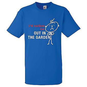 Mens die ik zou liever uit In de tuin Koningsblauwen Tshirt