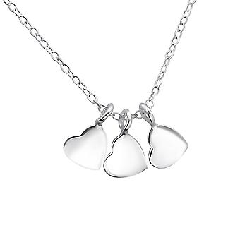 Hearts - 925 Sterling Hopea Plain kaulakorut - W17048x