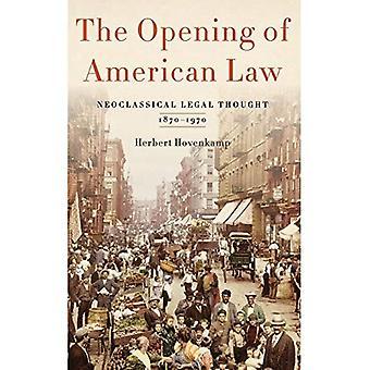 L'apertura della legge americana: neoclassico legale pensato, 1870-1970