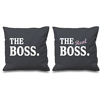 The Boss The Real Boss Grey Cushion Covers 16