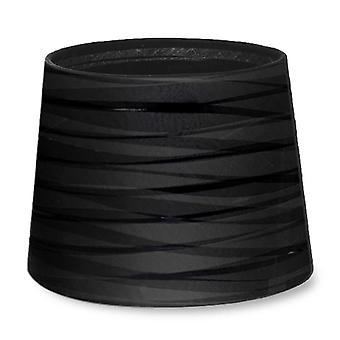 Klä upp avsmalnande runda texturerat svart Finish skugga - lysdioder-C4 PAN-219-05