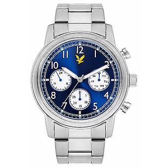 Lyle & Scott Mens commande en acier inoxydable Bracelet cadran bleu LS-6005-22 montre