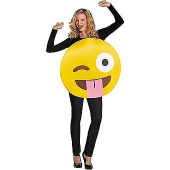 Costume adulte Emoji langue