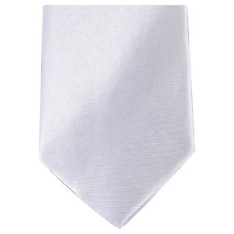 Knightsbridge Neckwear Slim Polyester Tie - White