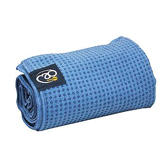 Fitness Mad Grip Dot Yoga Mat Towel - Blue
