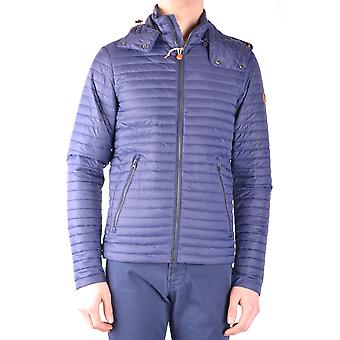 Save The Duck Ezbc081010 Men's Blue Nylon Outerwear Jacket