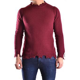 Daniele Alessandrini Ezbc107008 Men's Burgundy Wool Sweater