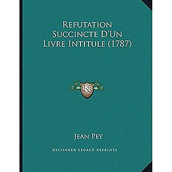 Gjendrivelse Succincte Dacentsa-Centsun Livre Intitule (1787)