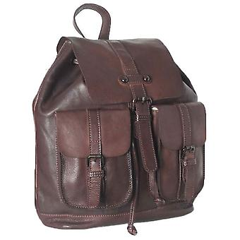 Ashwood Leather Shoreditch Vintage Dipped Leather Rucksack - Brown