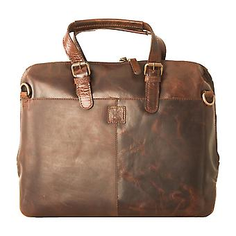 Ashwood Herren Leder-Laptop-Tasche