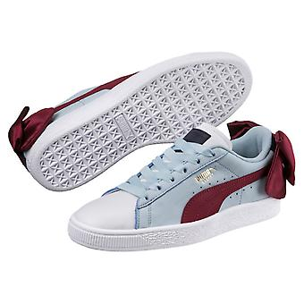 Puma Womens Basket Bow Low Top Lace Up Fashion Sneakers