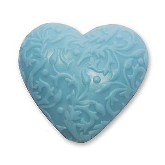 Florex BioLina orgânica ovinos leite sabão-lavanda Vanilla-Heart com ornamento 80 g