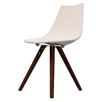 Fusion Living Iconic White Plastic Dining Chair With Dark Wood Legs Fusion Living Iconic White Plastic Dining Chair With Dark Wood Legs Fusion Living Iconic White Plastic Dining Chair With Dark Wood Legs Fusion Living