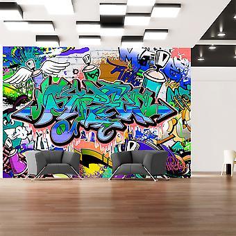 Fotobehang - Graffiti: blue theme