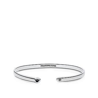 Philadelphia Flyers Engraved Sterling Silver Black Onyx Cuff Bracelet