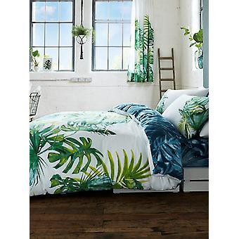 Botanische Palm bladeren Dekbedovertrek en kussensloop set