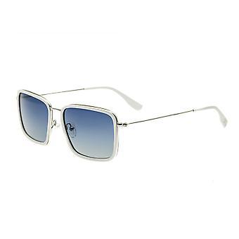 Simplificar Parker polarizado gafas de sol - blanco/azul