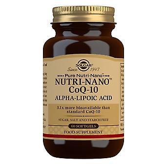 Solgar nutri-nano CoQ-10 com ácido alfa-lipoico softgels 60 (1823)