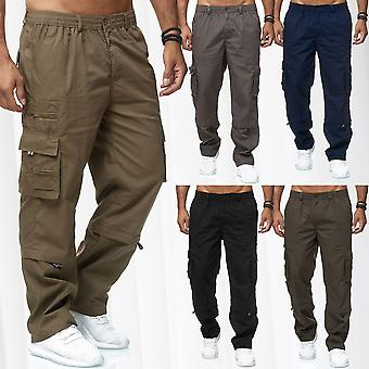 Mens Cargo Pants Long Zip Off Function 3/4 Casual Slip in Trousers Cargo shorts