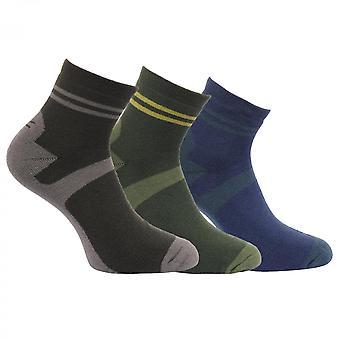 Regata 男士积极生活方式快速干燥 3Pack 步行袜子