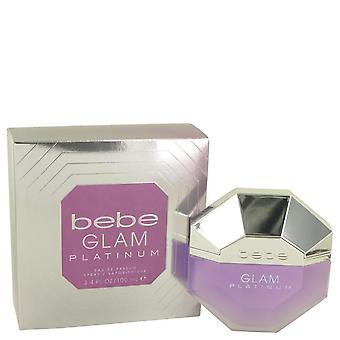 Bebe glam platinum eau de parfum spray by bebe 533662 100 ml