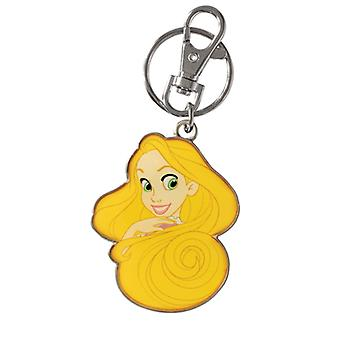 Key Chain - Disney - Princess - Rapunzel Two sided Colored Pewter Toys 23472