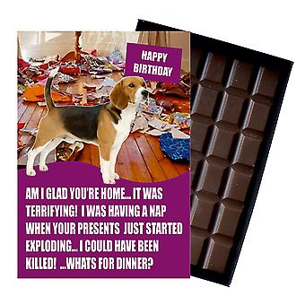 Beagle Funny Birthday Gifts For Dog Lover Boxed Chocolate Greeting Card Present