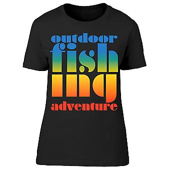 Outdoor Fishing Graphic Tee Women's -Image by Shutterstock