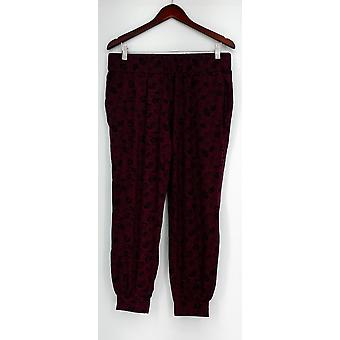 Anybody Petite Lounge Pants MP Loungewear Petite Cozy Knit Burgundy Red A298207