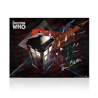 Tom Baker signiert Dr Who Tardis Poster