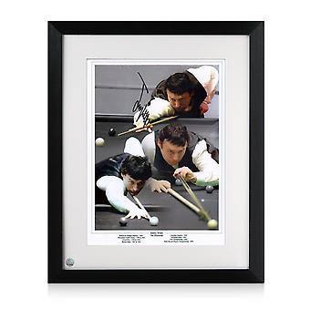 Jimmy White Signed Snooker Photo: The Whirlwind. Framed