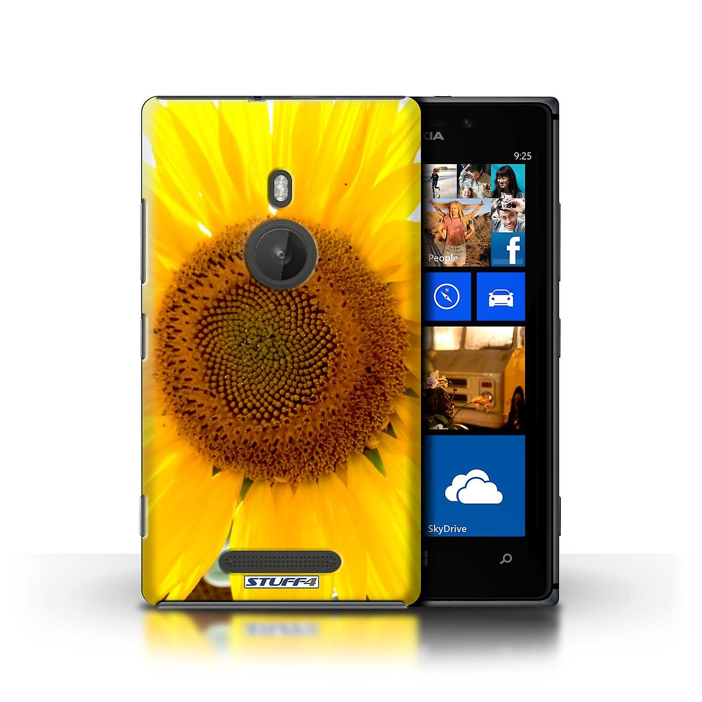 STUFF4 Case/Cover for Nokia Lumia 925/Sunflower/Floral Garden Flowers