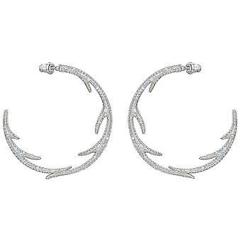 Swarovski Polar Bestiary Hoop Pierced Earrings - Multi-colored - Rhodium Plated - 5499626