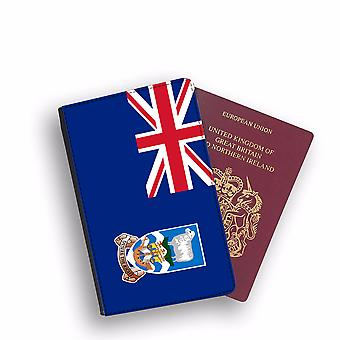 FALKLAND ISLANDS Flag Passport Holder Style Case Cover Protective Wallet Flags design