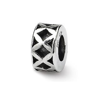 925 sterling sølv antikke finish refleksioner SimStars X spacer perle Charm