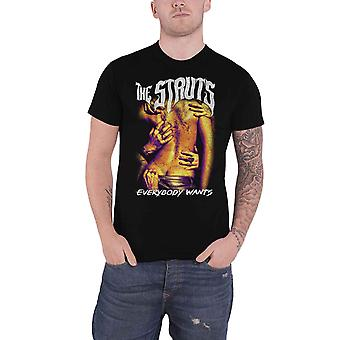 The Struts T Shirt Everybody Wants Distressed Band Logo new Official Mens Black