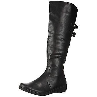 Easy Street Women's TESS Mid Calf Boot, Black, 6 M US