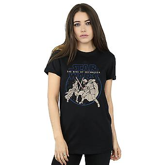 Star Wars The Rise Of Skywalker Rey And Kylo Combat Women's Boyfriend Fit T-Shirt