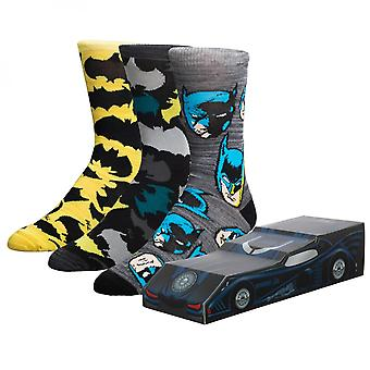 Batman 3-Pack Crew Socken Batmobil Box Set
