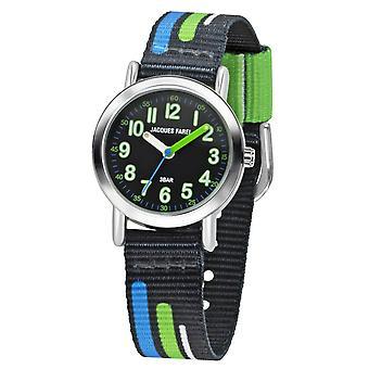 JACQUES FAREL Kids horloge analoge Quartz jongens textiel lint KPS 403 blauw