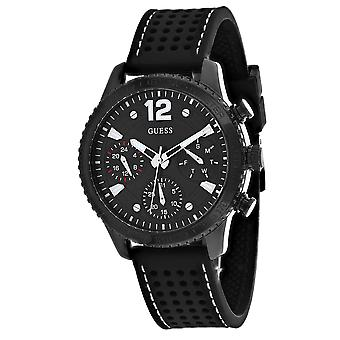 Guess Men's Marina Black Dial Watch - W1025L3