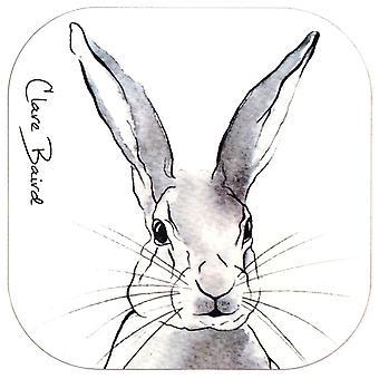Clare Baird Highland Collection-Mountain Hare Coaster