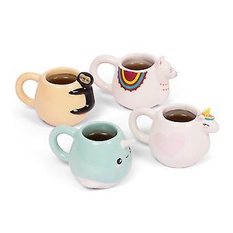 thumbsUp Animal Espresso Mug Set