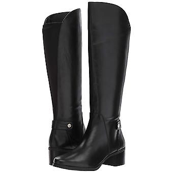Anne Klein Womens Jela Leather Closed Toe Knee High Riding Boots