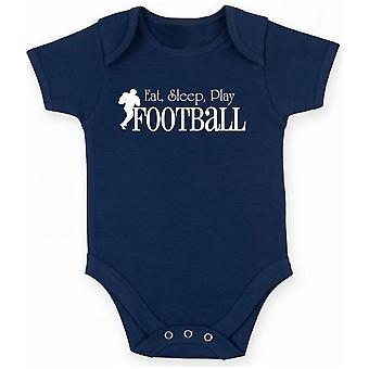 Body neonato blu navy fun1328 eat sleep play football