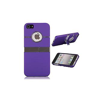 Plastic Shell Logo Apparent Support TV Violet For IPhone 5