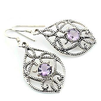 Amethyst Ohrringe 925 Silber Sterlingsilber Ohrhänger lila (KLE-OH-023)