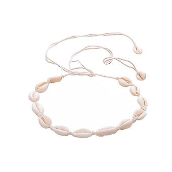 Choker necklace with white shells-white