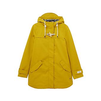 Joules New Coast Mid Womens Waterproof Jacket - Antique Gold