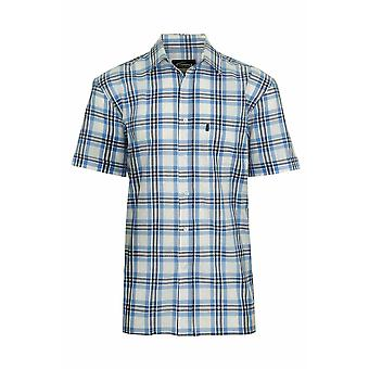 Mens Champion Country Style Fine Quality Casual Check Short Sleeved Cotton Shirt